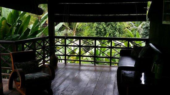 Maison Polanka: Green room porch