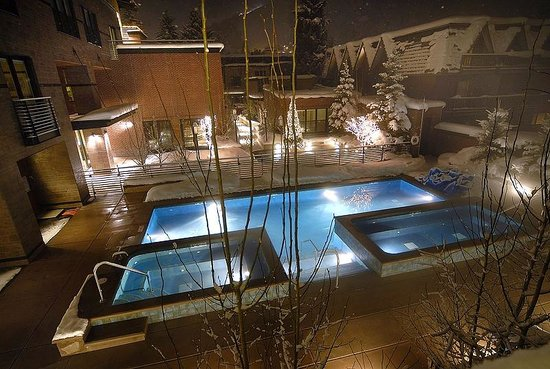 Limelight Hotel Aspen: View from room of pools