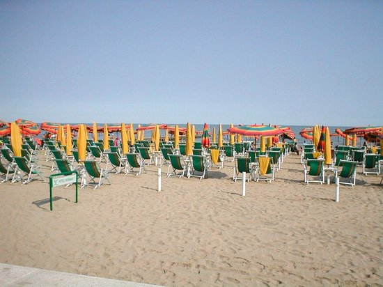 Hotel Rosmary : La spiaggia di Jesolo.