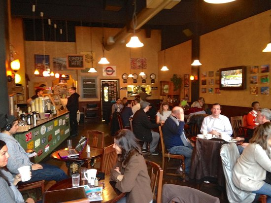 Costello's Travel Caffe: Inside Costello's--a fun place!