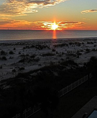 Inn at Dauphin Island: Sunset showing the beach, from 406