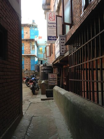 Ganesh Guest House: the way to the hotel