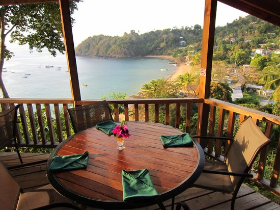 Caribbean Kitchen at Castara Retreats: A beautiful setting overlooking the bay