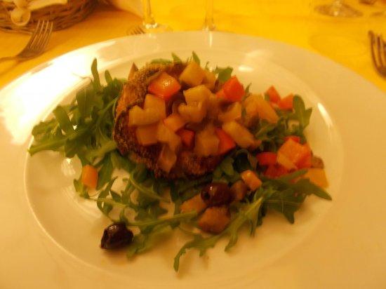 Ca Fileno : Tulipano di pesce spada con verdure