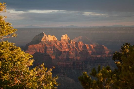 Grand Canyon Lodge - North Rim: Sunset on the canyon, just off the cabin