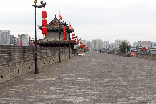Xi'an City Wall (Chengqiang): Top of the Xi'an City Wall