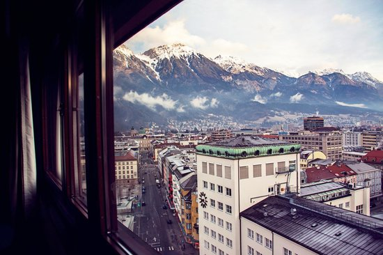 Hilton Innsbruck: View from 13th floor