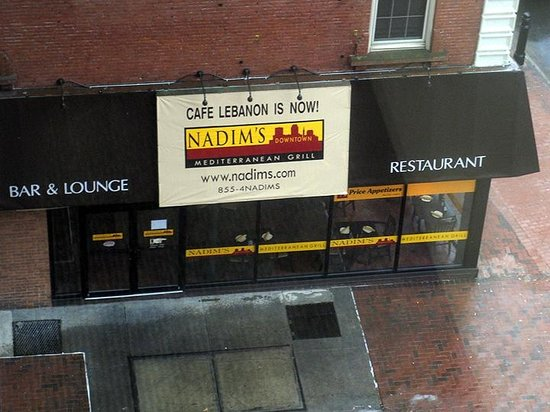 Nadim's Downtown Mediterranean Grill: Exterior View (from adjacent office building) - Nadim's