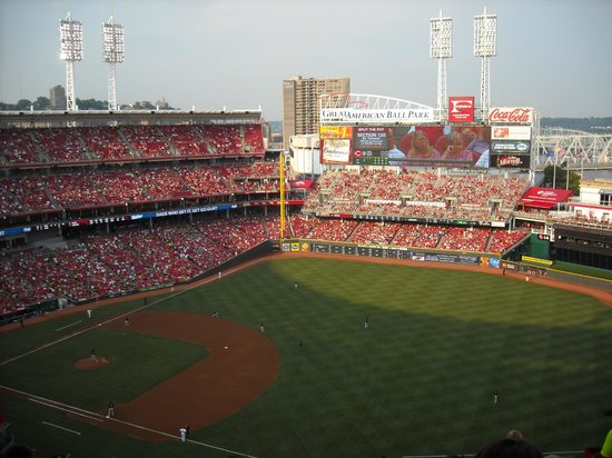 """Great American Ball Park: In the """"Nose Bleeds"""" Still a great view"""