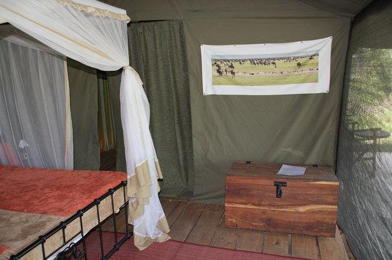 Ang'ata Camp Serengeti: Inside of our tent- comfy bed