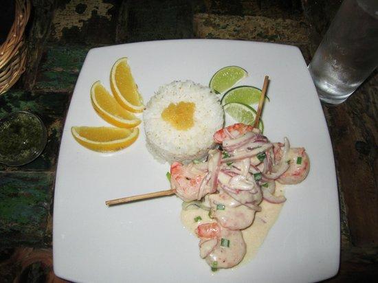Ginger - Carib Asian Cuisine- : Shrimp Skewers