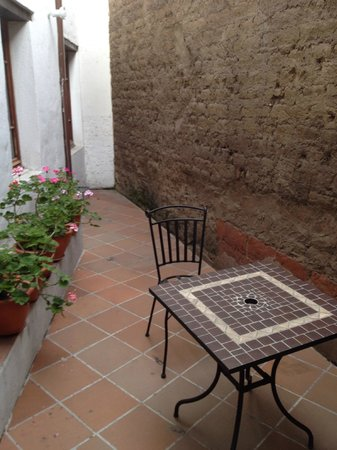 La Casona de la Ronda Heritage Boutique Hotel: The terrace off room number 6