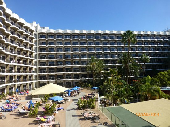 Occidental Margaritas: The hotel from the sundeck area