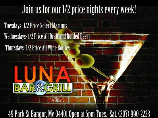 The Luna Bar & Grill: Half Off Offers