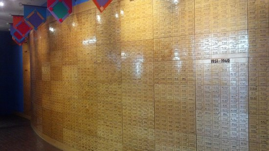 Louisville Slugger Museum & Factory : All the signatures that went on player's bats. Very cool ~