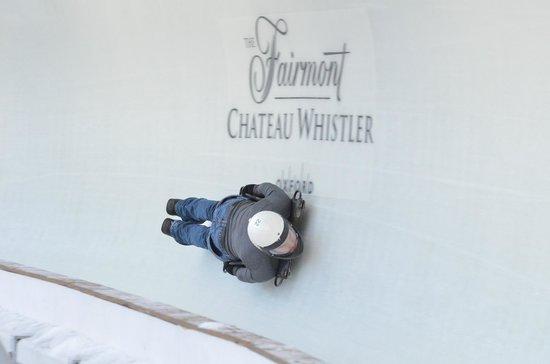 Whistler Sliding Centre: Going over 100 km/hr!