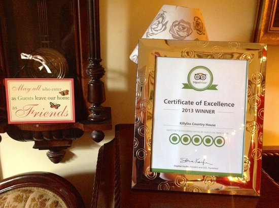 Killyliss Country House: Recent award