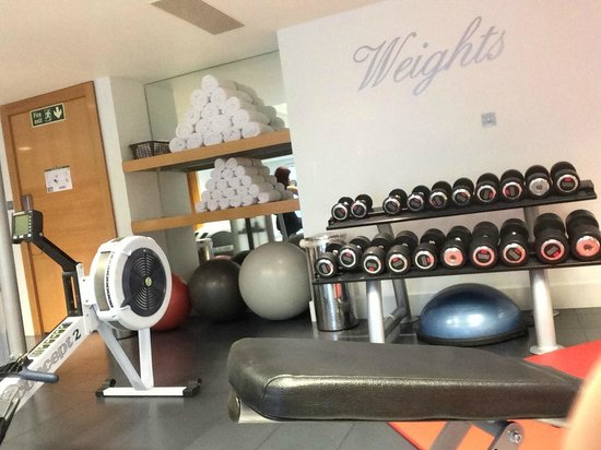 Park Plaza London Riverbank : Rowing machine, dumbbells (4-20kg)