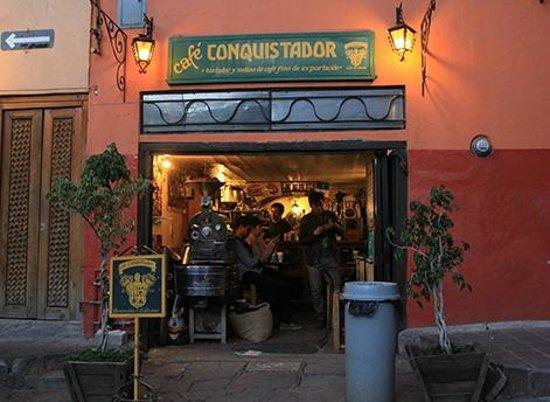 Cafe Conquistador: a fachada