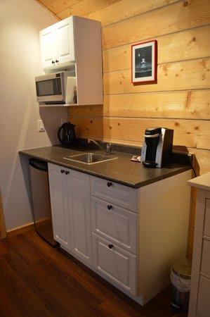 Northern Lights Resort & Spa : kitchen in Chalet Arnika