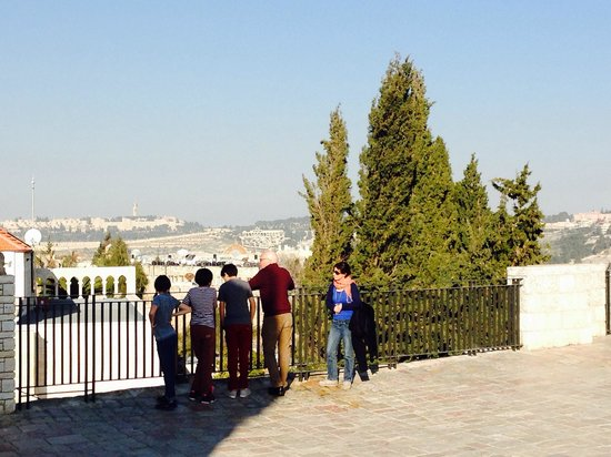 Israel Travel Company : Hava explaining this site above where is believed Jesus had THE LAST SUPPER
