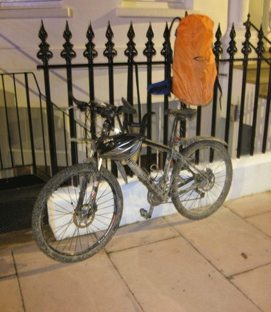 The Guesthouse East: The bike after 3 wet days in October