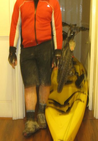 The Guesthouse East: The rider after 3 wet days in October