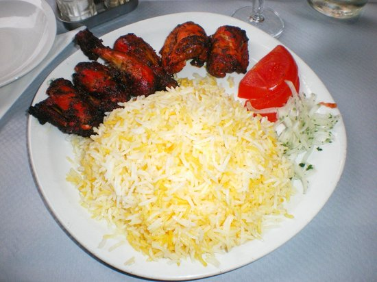 Mazeh : Coquelet tandoori & son riz au safran