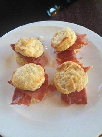 Salamander Resort & Spa : ham biscuits for breakfast--perfect