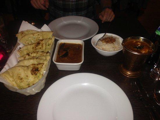 Meluha: Lamb Dakshini, Malabar Prawn Curry