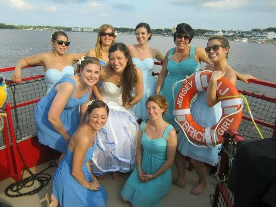 Pirates on the Manasquan: The stunning bridesmaids - all of whom are Jersey Girls!