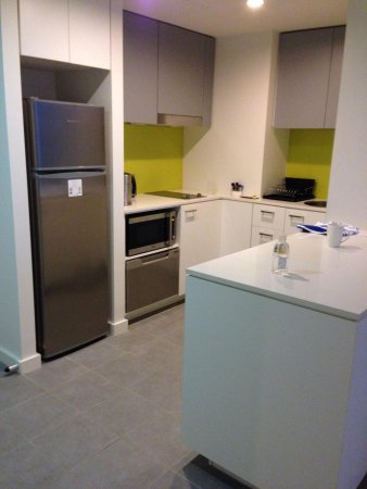 Citadines on Bourke Melbourne: The kitchen with no oven