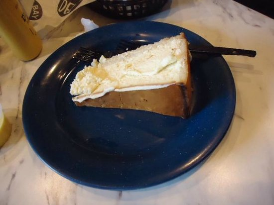 This is the HALF-ORDER of Cheesecake @ East Bay Deli in Charleston SC