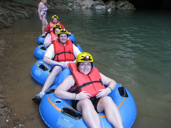 Butts Up Cave Tubing : Tubing launch point