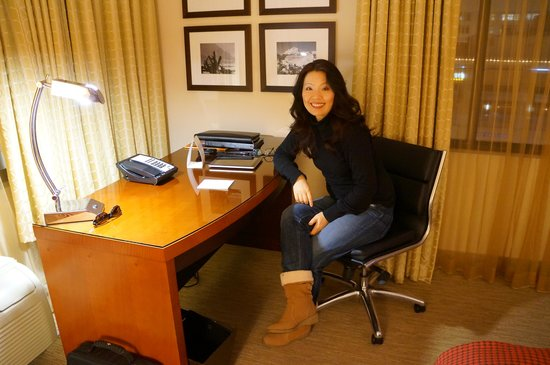 The Paramount Hotel : We loved having a desk to work from.