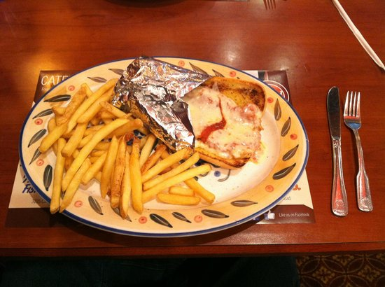 Marietta Diner : Veal Parmesan Sub with Fries