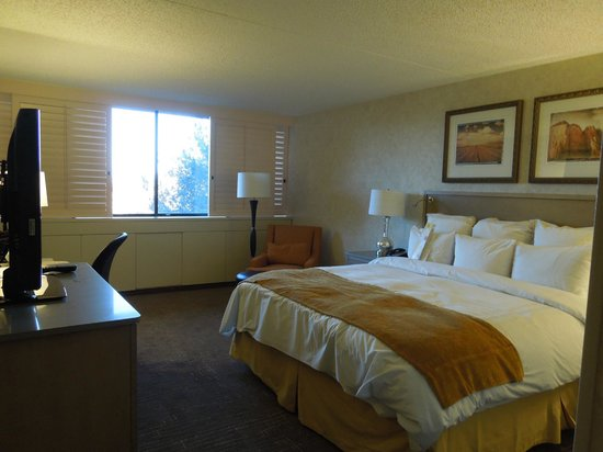 Phoenix Marriott Tempe at The Buttes: Large sleeping room- lots of plugs for electronics