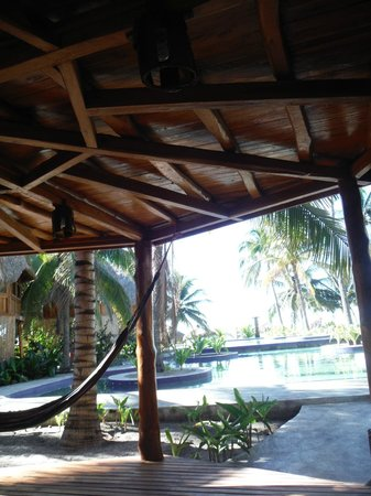 Hotel Tortuga Village: The intricacy of how the bungalow is built is actually very beautiful