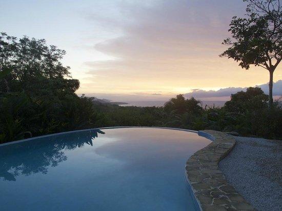 Agua Vista: pool at sunset