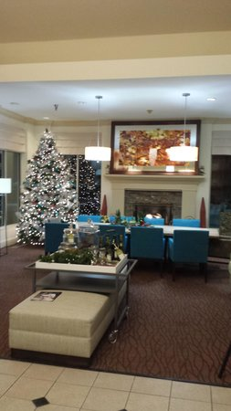 Hilton Garden Inn Minneapolis Eagan : Lobby with tree.