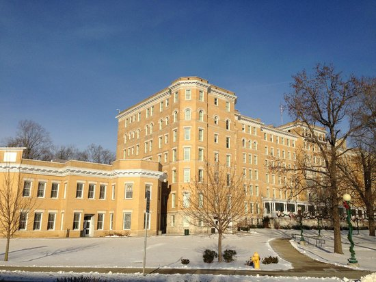 French Lick Springs Hotel : Street view of hotel