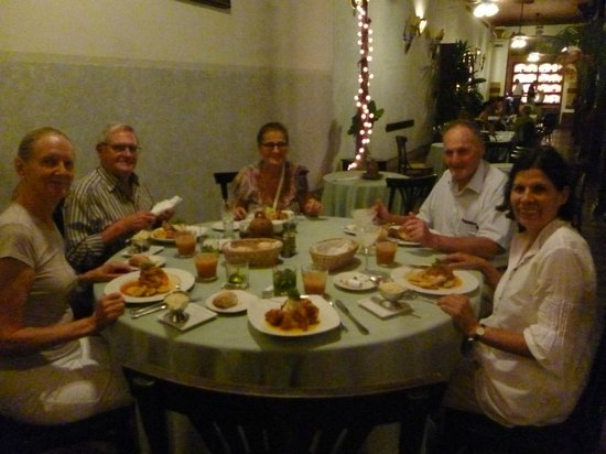 Hotel Dario: dinner with friends from Costa Rica