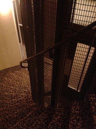 Hotel Pax Opera: Escalera y hueco del ascensor
