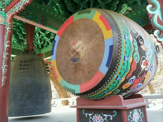 Gongju, South Korea: bells and drum