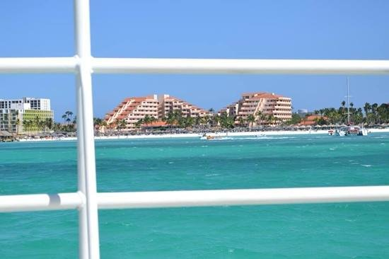 Playa Linda Beach Resort: a view from the water