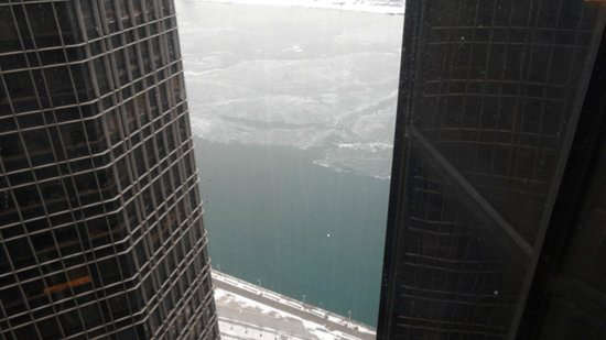 Detroit Marriott at the Renaissance Center: Day view from 47th floor.