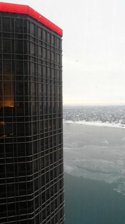 Detroit Marriott at the Renaissance Center : View from 47th floor.