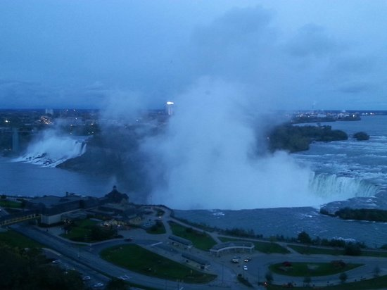 Niagara Falls Marriott on the Falls: View from my hotel window, early evening