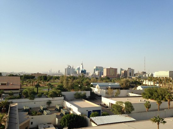 InterContinental Riyadh: View on the golf, from the Executive Club Lounge