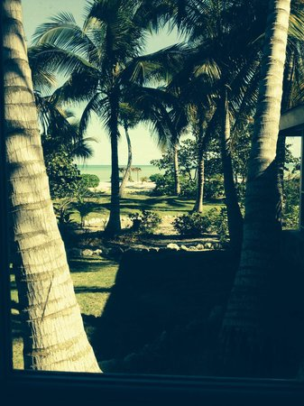 Kamalame Cay: View from Beach cottage: Mahogany North